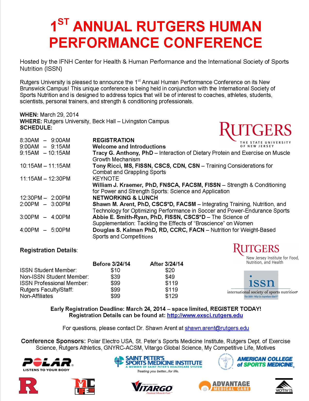 1st annual rutgers human performance conference - v2
