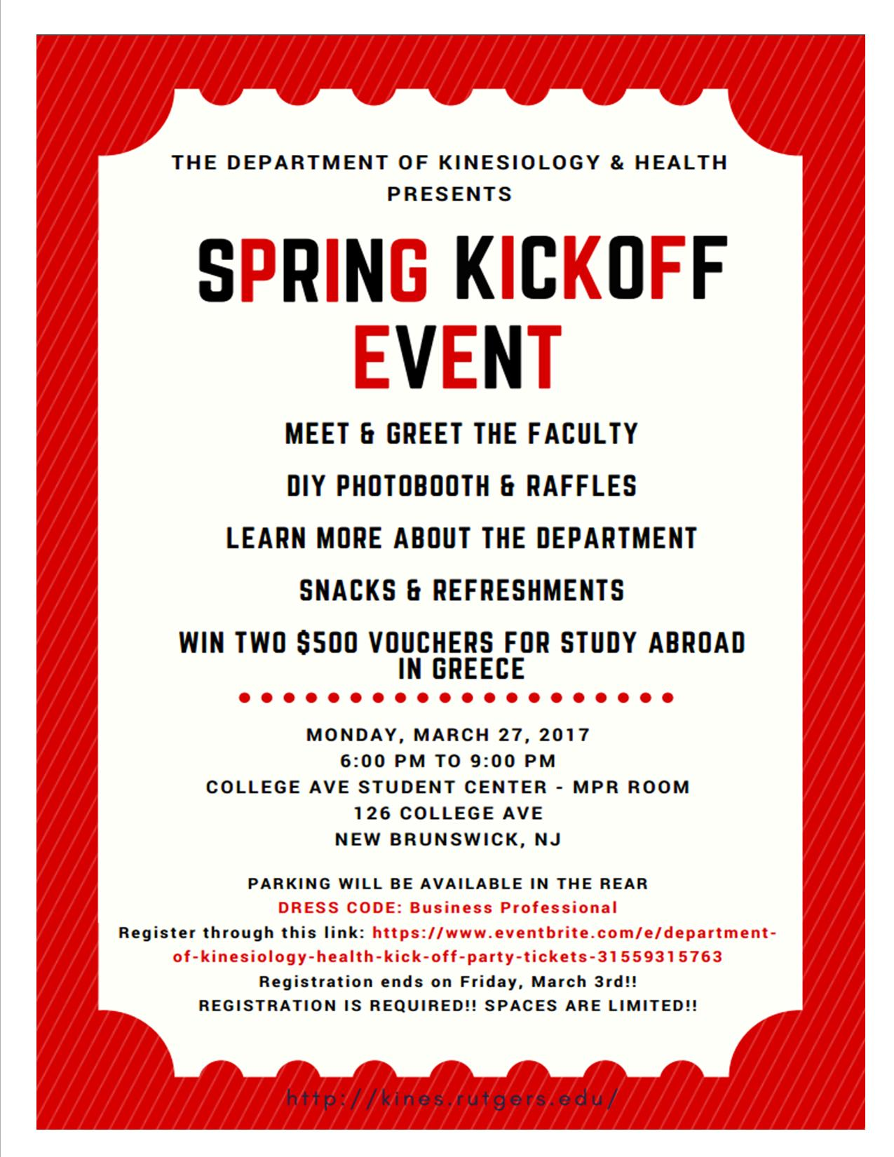 Department Kickoff Flyer